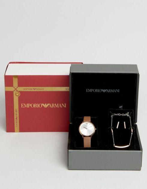 Parure montre et bijoux © Emporio Armani